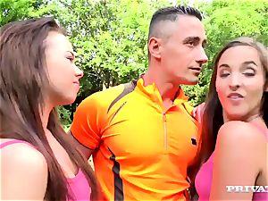 Amirah Adara and Tricia teenage 3way with the teacher