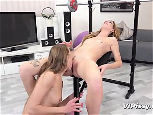 peeing lesbians Alexis Crystal And Barbara mouth-watering