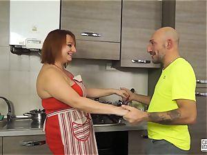 audition ALLA ITALIANA - Italian ginger-haired deep assfuck hookup