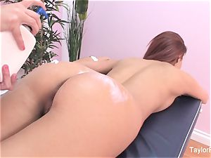 Jayden Cole a massage with a tiny bit