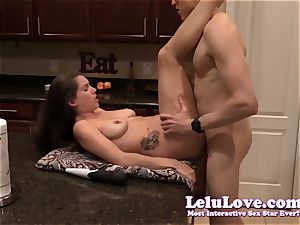 amateur duo deep throats and smashes on the kitchen counter