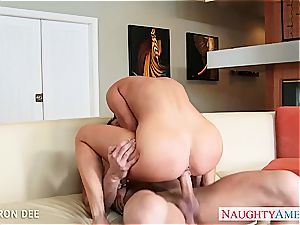 huge-boobed honey Cameron Dee gets facialized