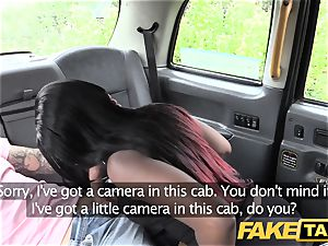 fake taxi Exotic dancer does backseat joys