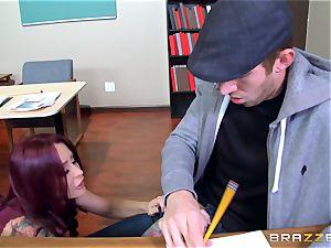 training babe Monique Alexander pummels her thickest dicked schoolgirl