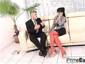 Aletta Ocean gets rectally poked on the sofa