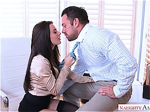 Office masturbation session finishes with sudden shagging