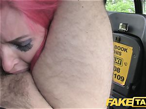 faux cab Fetish goddess in dark-hued leather rectal internal ejaculation