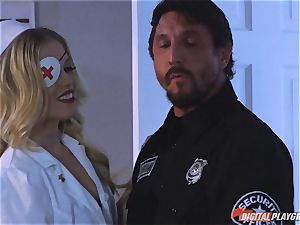 super-naughty nurse Ash Hollywood humped rock hard by Tommy Gunn