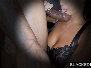 BLACKEDRAW wondrous scorching wife loves to rim dark-hued bulls in hotels