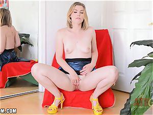 Ella Nova masturbates hard and shoots a load