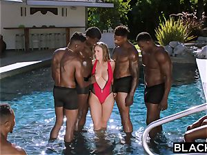 BLACKED Lena Paul first multiracial group sex