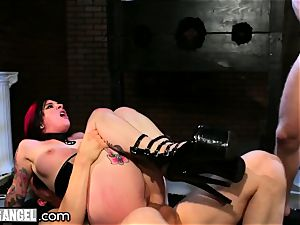 BurningAngel Joanna Angel bondage double penetration dominance