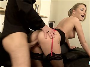 LA COCHONNE - steaming rectal with insane French blondie