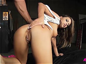 Alluring Adriana does her greatest to satisfy three lollipops