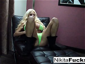 gigantic jug Nikita plays with herself