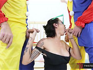 Dana Vespoli plowed by creepy thick salami clowns