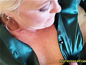 spectacular Satin practices with Ms Paris Rose